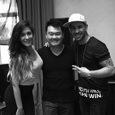 Jimmy Hyun with Daniel and Desiree of Spain