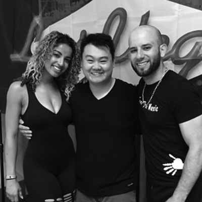 Jimmy Hyun with Tanya and Jorge Burgos of Island Touch