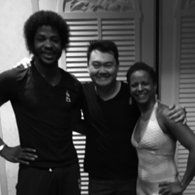 Jimmy Hyun with Terry & Cécile Salsalianza of France